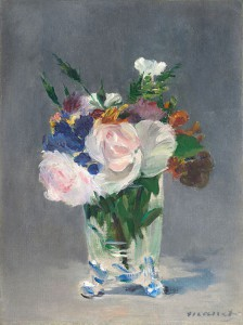 Édouard Manet (French, 1832–1883) Flowers in a Crystal Vase, ca. 1882, oil on canvas, 127/8 × 95/8 in. National Gallery of Art, Washington, D.C., Ailsa Mellon Bruce Collection,1970.17.37