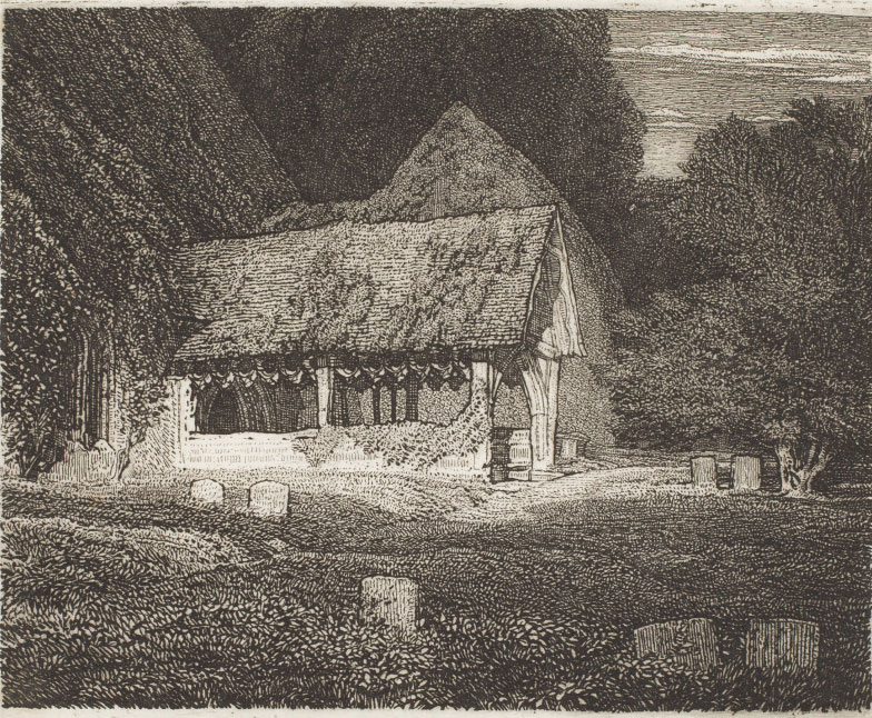 Frederick Landseer Maur Grigs (English, 1876–1938), Stoke Poges, 1918, etching, sheet: 7 x 8 13/16 in. plate: 4 x 4 9/16 in. Promised Gift of Frank Raysor, FR.0527