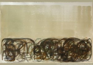 """90.186 John Cage, Series IV, 215 Moves"""", from New River watercolor series Photo: Katherine Wetzel © Virginia Museum of Fine Arts 9/27/2005"""