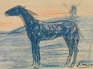 Pablo Picasso, The Horse, 1901, crayon and ink on paper. Collection of Mr. and Mrs. Paul Mellon, 85.795
