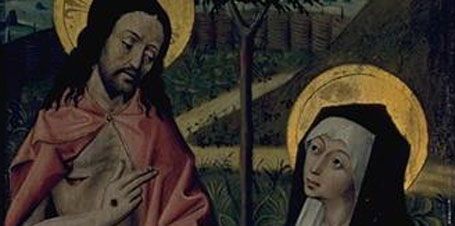 Christ Appearing before Mary Magdalene (detail)