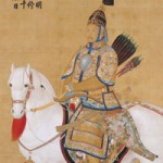 Emperor Qianlong on Horseback - Hanging Scroll detail from The Palace Museum