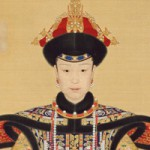 Portrait of Empress Xiaoxianchun, detail, from the Palace Museum
