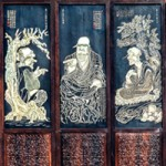 Sixteen Luohans, folding screen detail, from The Palace Museum, Beijing