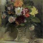 Eugène Delacroix (French, 1798–1863) A Vase of Flowers, 1833 Oil on canvas