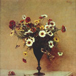 Henri Fantin-Latour (French, 1836–1904) Chrysanthemums, circa 1889 Oil on canvas