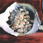 Pierre-Auguste Renoir (French, 1841–1919) Bouquet in a Loge, circa 1878–1880 Oil on canvas
