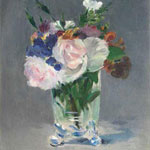 Édouard Manet (French, 1832–1883) Flowers in a Crystal Vase, circa 1882 Oil on canvas