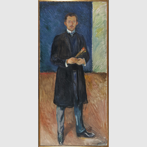Edvard Munch (Norwegian, 1863–1944) Self-portrait with Brushes 1904 Oil on canvas Munch Museum