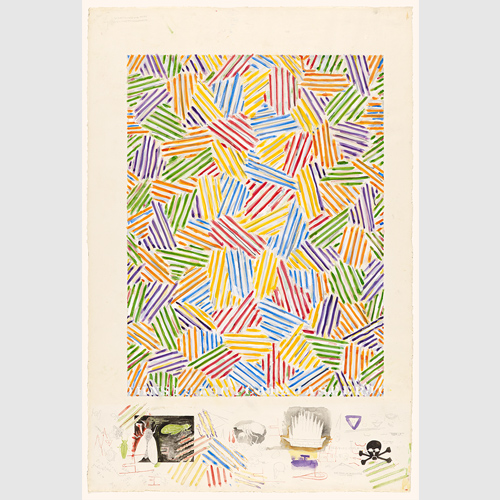 Jasper Johns (American, born 1930) Cicada 1979 Watercolor, crayon, and pencil on paper The Museum of Fine Arts, Houston, Museum purchase funded by the Caroline Wiess Law Accessions Endowment Fund