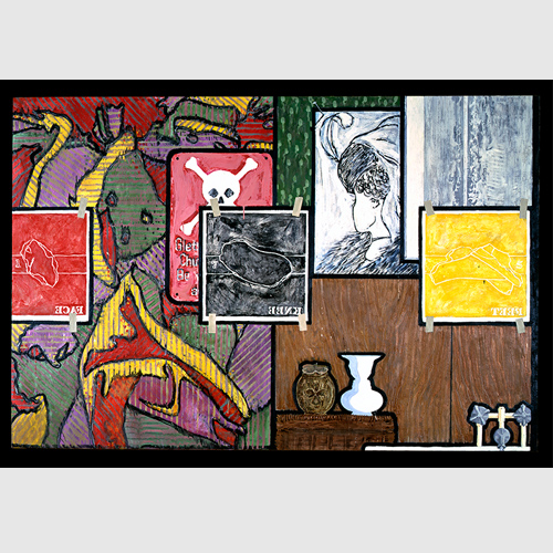 Jasper Johns (American, born 1930) Untitled 1984 Encaustic on canvas Collection of the artist